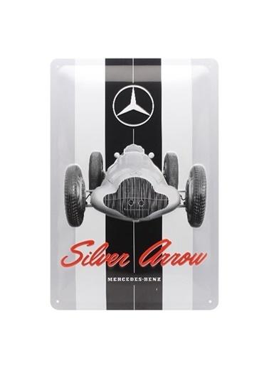 Nostalgic Art Mercedes Silver Metal Pano Renkli